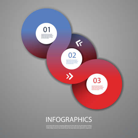 Infographics Cover - Circle Designs with Icons Vector
