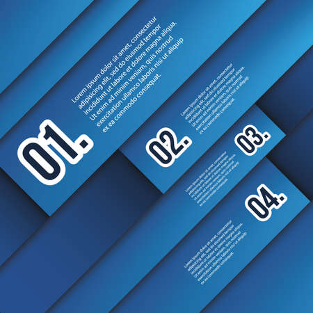 Infographics Cover - Blue Numbered Banner Mosaic Designs Stock Vector - 18128593