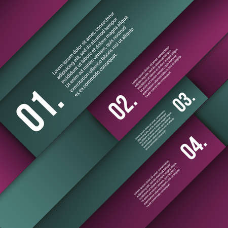 numbered: Infografica Cover - Colorful numerate Banner Mosaico Designs Vettoriali