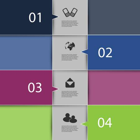 nfographics Cover - Numbered Banner Designs with Icons Stock Vector - 18155037