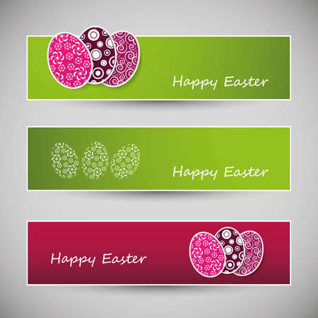 Happy Easter Banners Stock Vector - 18212821