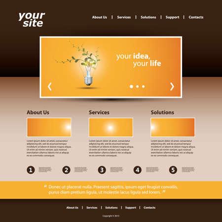 Website Template Stock Vector - 18236638
