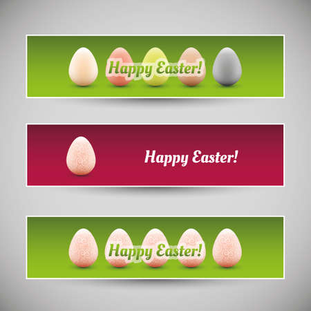 Happy Easter Banners Stock Vector - 18439623