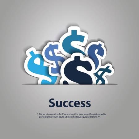 cr�dito: Signos Dollar Design Background
