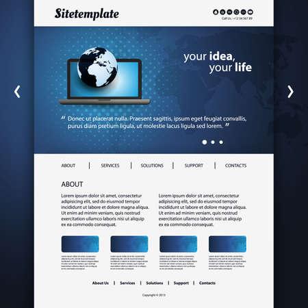 Website Template Stock Vector - 18546669