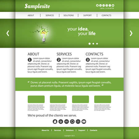 page layout: Website Template