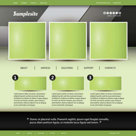 web site design template: Website Template