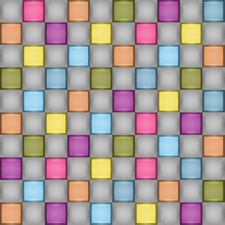 Colorful Tiled Texture - Abstract Vector Background Vector