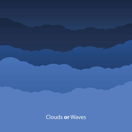 Abstract Clouds or Waves Background Vector Stock Vector - 18589693