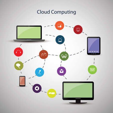 Cloud Computing Concept Stock Vector - 18618016