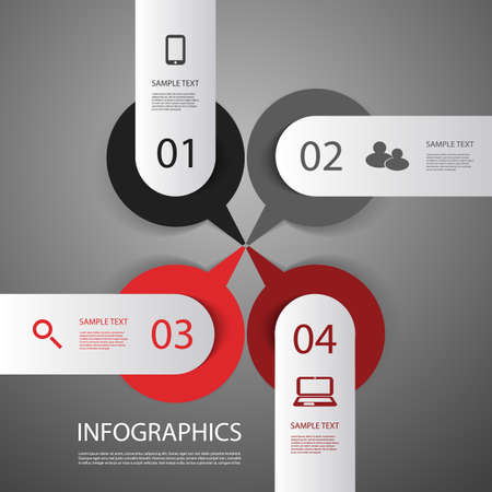 numbered: Infograpics Design Illustration