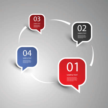 rounded rectangle: Speech Bubbles Illustration