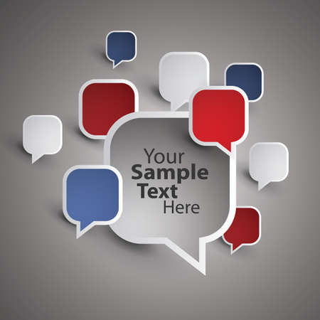 visual presentations: Speech Bubbles Illustration