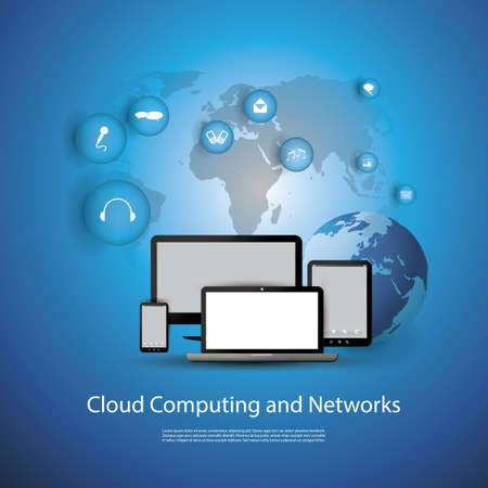 Cloud Computing Concept Stock Vector - 19398072