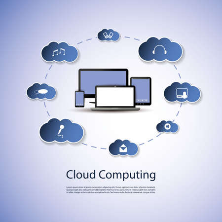 Cloud Computing Concept Stock Vector - 19316306