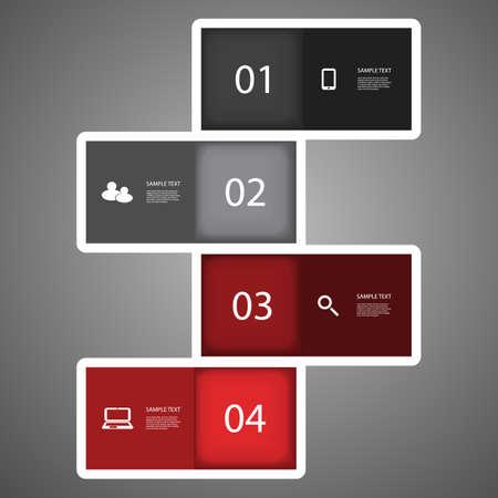 corporate social: Infografica design