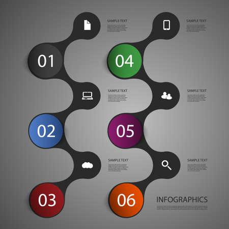 Diseño Infografía Ilustración de vector