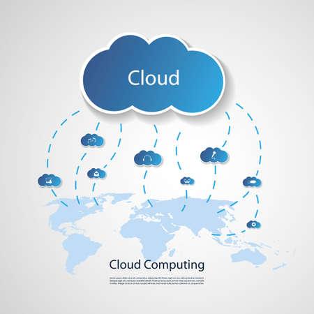 dashed: Cloud Computing Concept Illustration