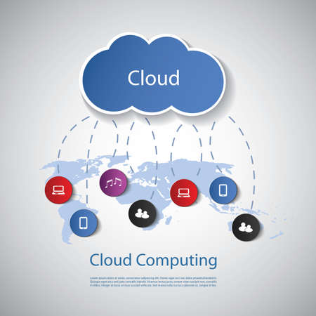 Cloud Computing Concept Stock Vector - 19516555