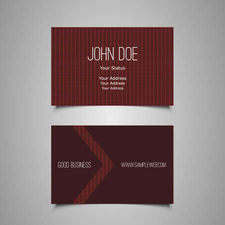 Business Card Template Stock Vector - 19934372