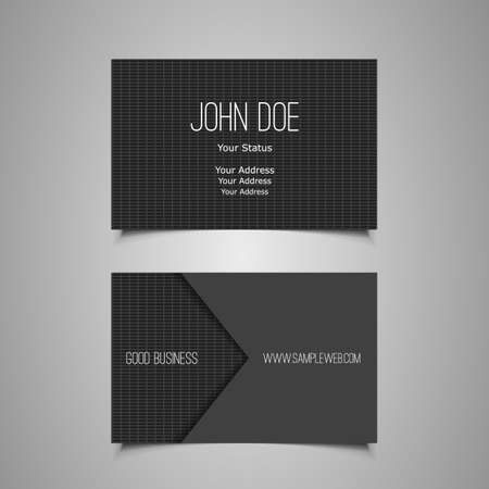 id card: Business Card Template Illustration
