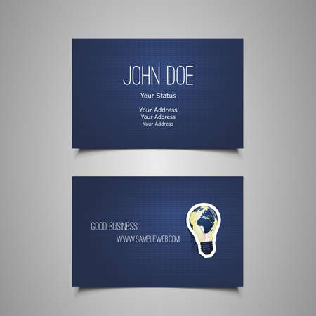 office visit: Business Card Template Illustration