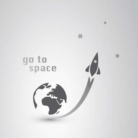 cohetes: Go to Icon Espacio Vectores