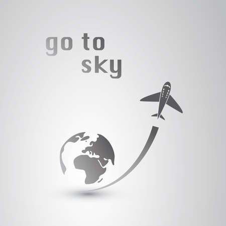 aereo icona: Vai a Sky - Airplane Icon