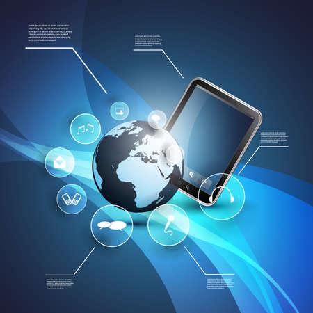 phone system: Cloud Computing Concept Illustration
