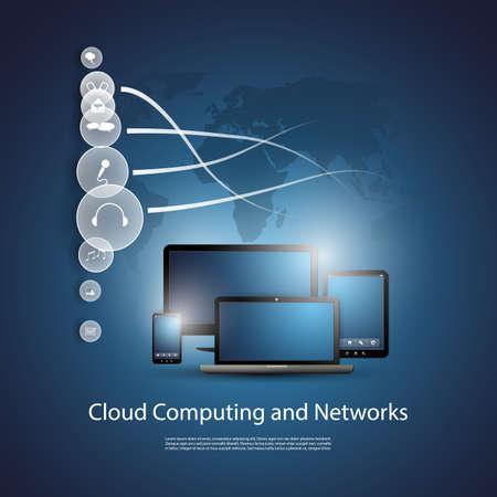 Cloud Computing Concept Stock Vector - 20272166