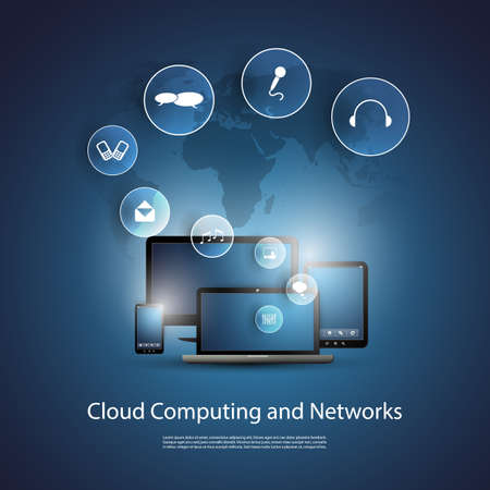 Cloud Computing Concept Stock Vector - 20046445