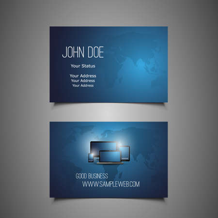 Business Card Template Stock Vector - 20075613