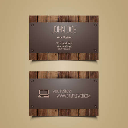 Business Card Template Çizim