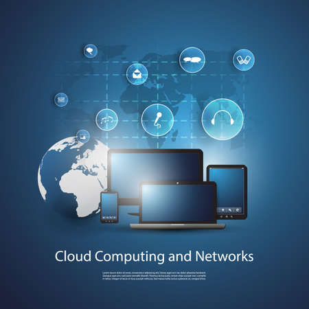 Cloud Computing Concept Stock Vector - 20581357