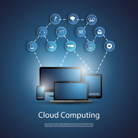 Cloud Computing Concept Stock Vector - 20450579