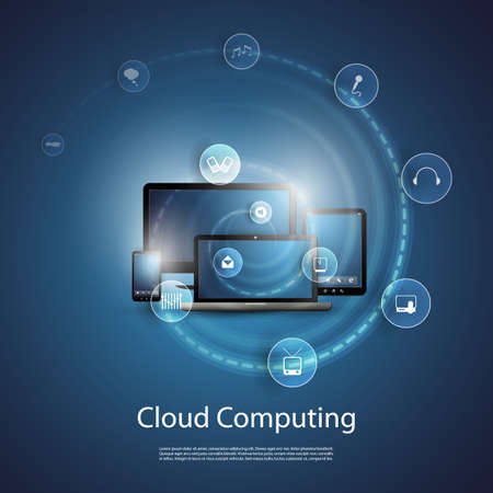 Cloud Computing Concept Stock Vector - 20356629