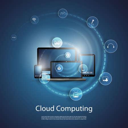 computadora: Nube concepto de la inform?tica