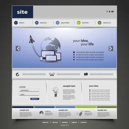 web page elements: Website Template