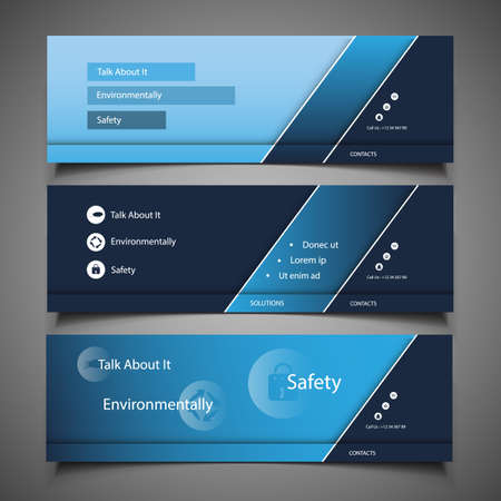 Web Design Elements - Header Designs Vector