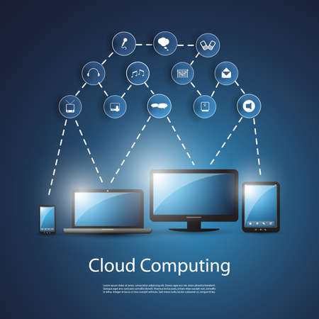 Cloud Computing Concept Stock Vector - 20408850