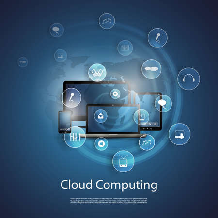 Cloud Computing Concept Çizim