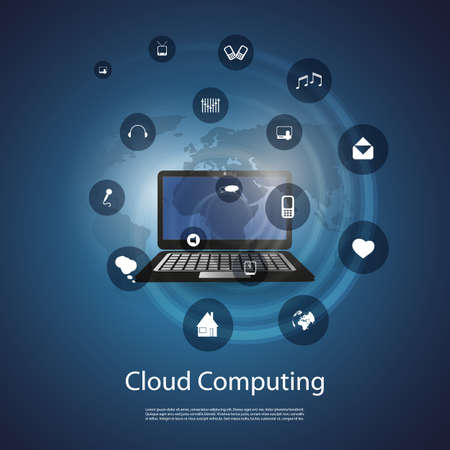 Cloud Computing Concept Stock Vector - 20493466