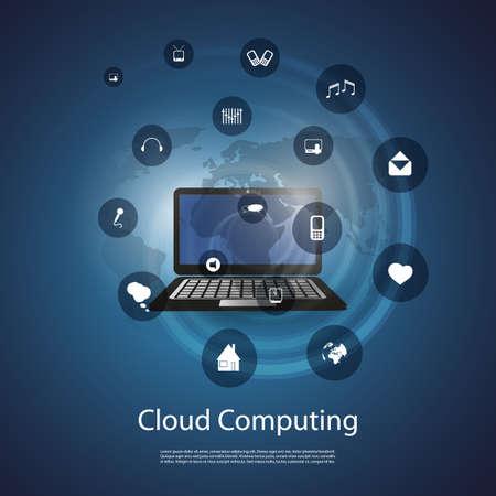 Cloud Computing Concept Stock Vector - 20493466