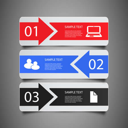 information icon: Infographic Elements - Banners Illustration