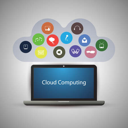 Cloud Computing Concept Stock Vector - 20724719