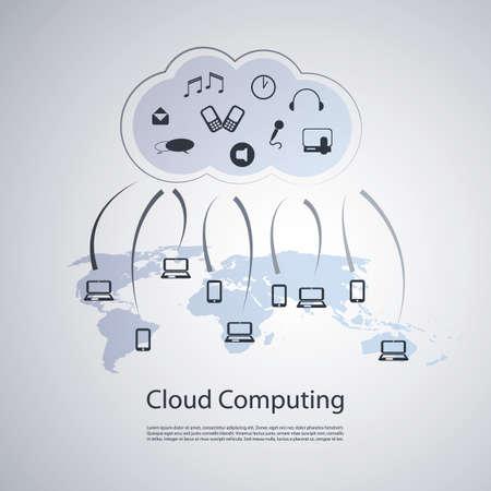 Cloud Computing Concept Stock Vector - 20666070
