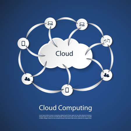 Cloud Computing Concept Stock Vector - 20743813