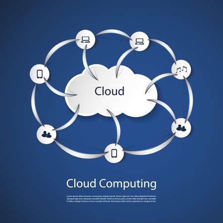 Cloud Computing Concept Stock Vector - 20743813