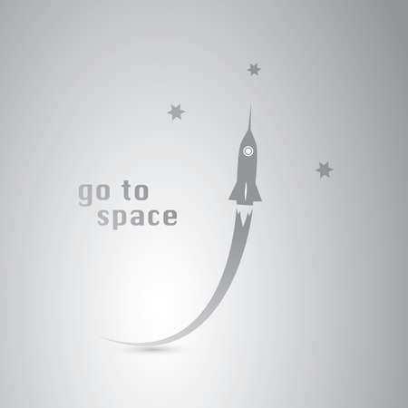 cartoon earth: Go to Space - Rocket Icon