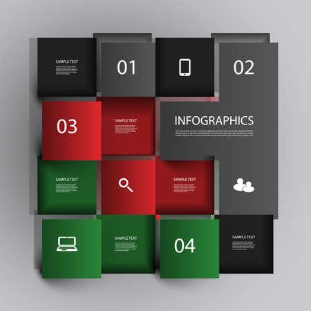 cuadrados: Dise?o de Infograf?a